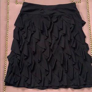 I.N.C.. Black Ruffle Skirt